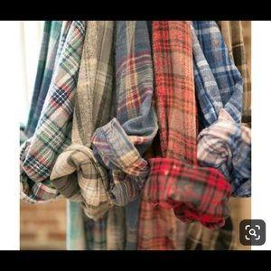 Men's Vintage Plaid Flannel Shirts (3)